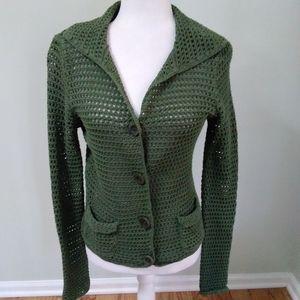 Ann Taylor open weave cardigan